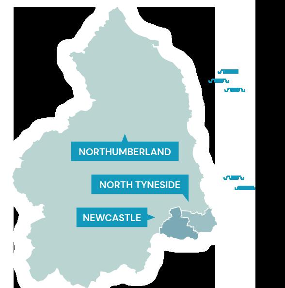 North of Tyne Combined Autority Regions