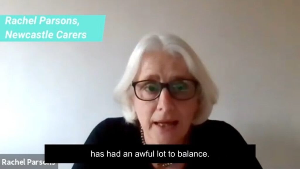 A video of Rachel Parsons, from Newcastle Carers, talking about Return to Work Carers.